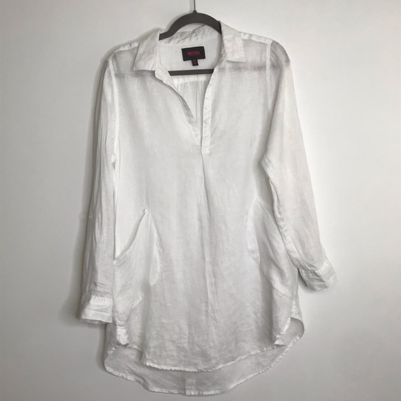 bbe48b595a For Cynthia Other - For Cynthia Beachwear linen tunic coverup medium